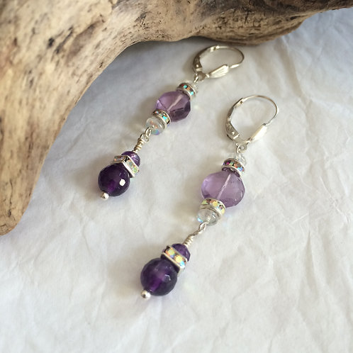 Long Crown Chakra Earrings