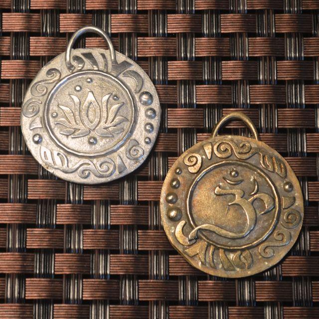 Om pendants other sides