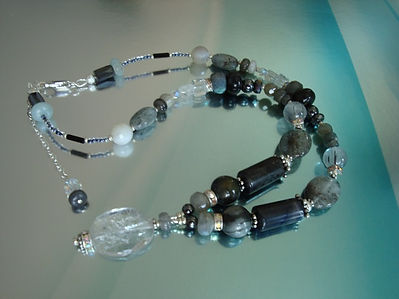 Crystal with Black Tourmaline Necklace