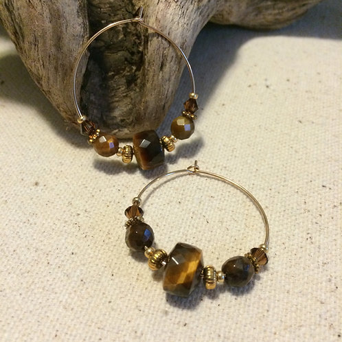 Solar Plexus Earrings Hoop B