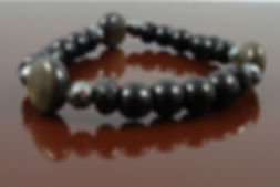 Root Chakra Bracelet on Stretch cord Onyx