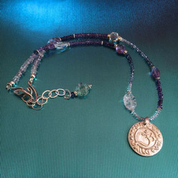 Om Necklace Crown Chakra