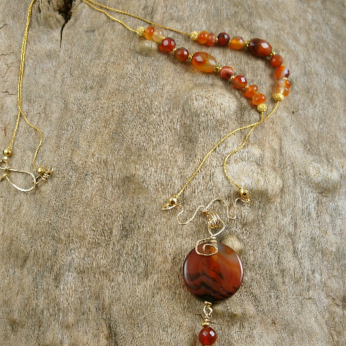 Red Agate and Carnelian Necklace Set