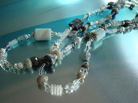 Amazonite with Labradorite necklace