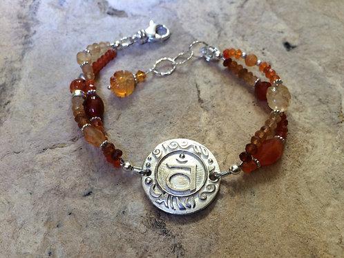 Sterling Silver Sacral Chakra Bracelet