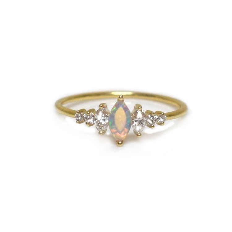 Opal Ice Queen Ring
