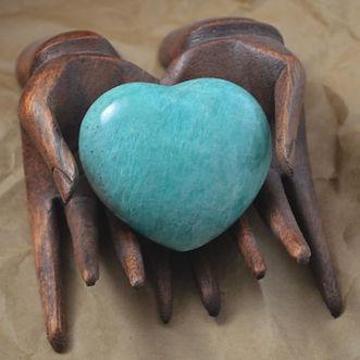 Blue Amazonite Heart