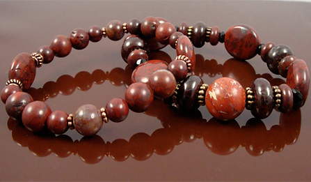Root Chakra Bracelets with Red Jasper