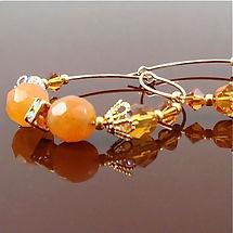 Orange Calcite Earrings