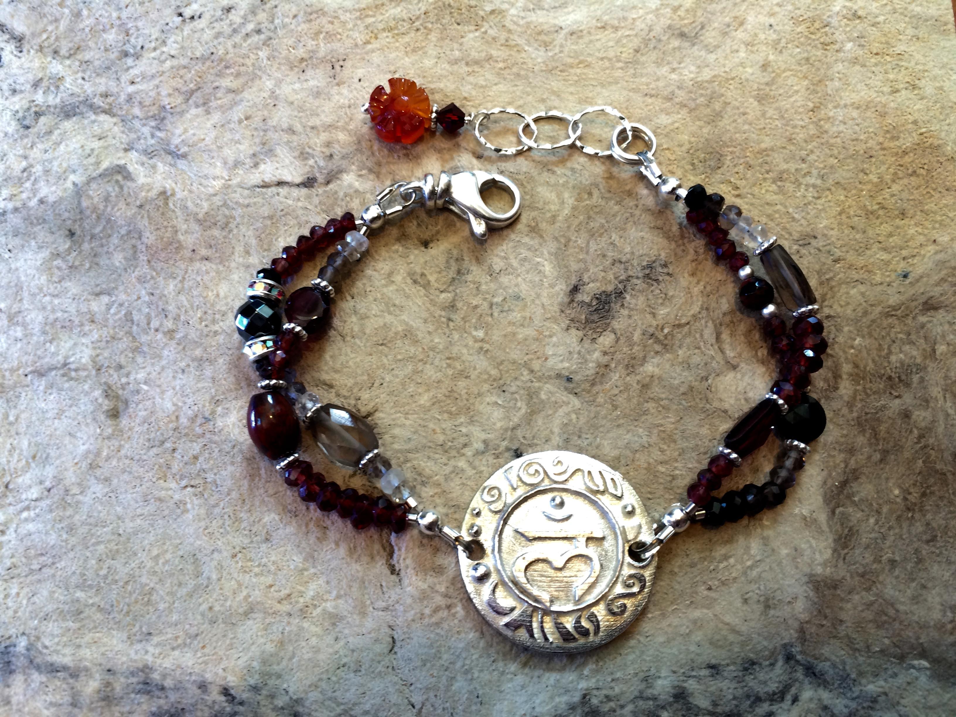 Root Chakra Sterling Bracelet