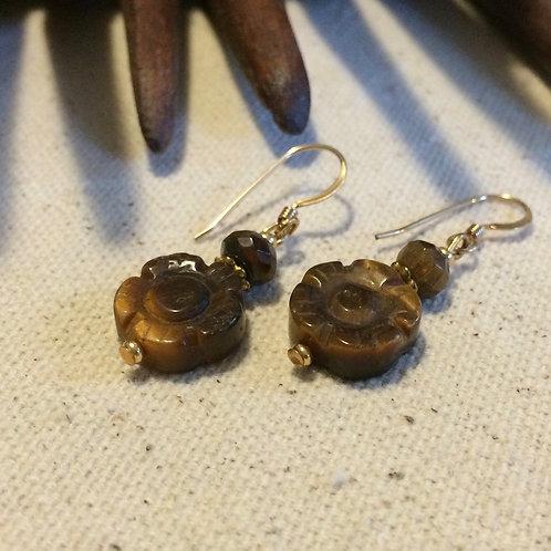 Solar Plexus Flower Earrings
