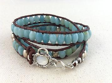 Amazonite with Aquamarine Necklace