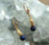 Lapis Earrings Gold-filled Lever-Backs
