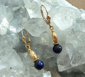 Lapis Earrings Gold-filled Lever-Backs