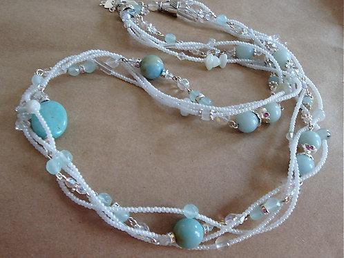 Amazonite Four Strand Necklace