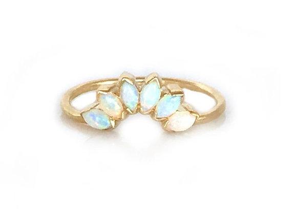 Caribbean Opal Sunrise Ring