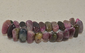 Different Tourmaline shaded beads