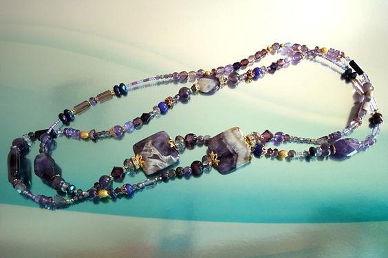 Amethyst Gemstone Long Necklace