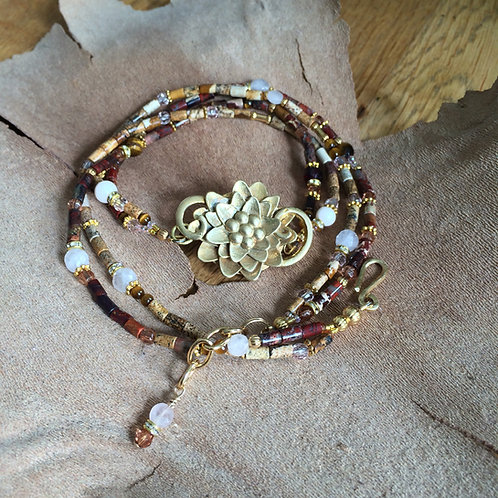 Lotus Flower Necklace Bracelet
