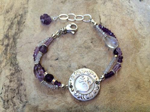 Sterling Silver Crown Chakra Bracelet