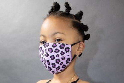 Fashion Print Face Mask - Lavender Leopard Print