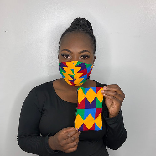 African Print Mask-Prismatic