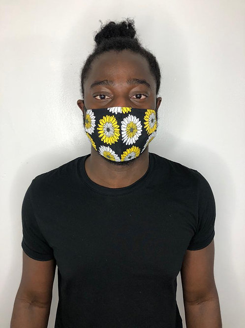 Fashion Print Face Mask - Sunflowers