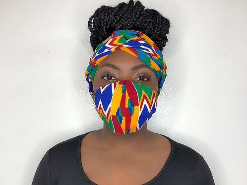 Turban Headband with Face Mask- Go- Cart