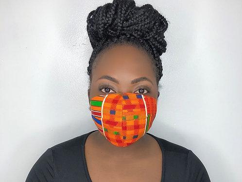 Kente Print Face Mask