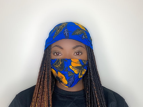 Araba Head Wrap with Face Mask