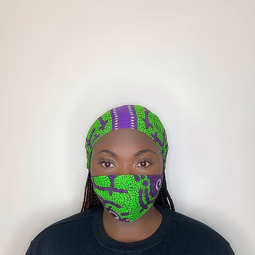 Juba Head Wrap with Face Mask