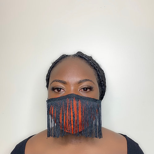 Shake me up - black mask with orange