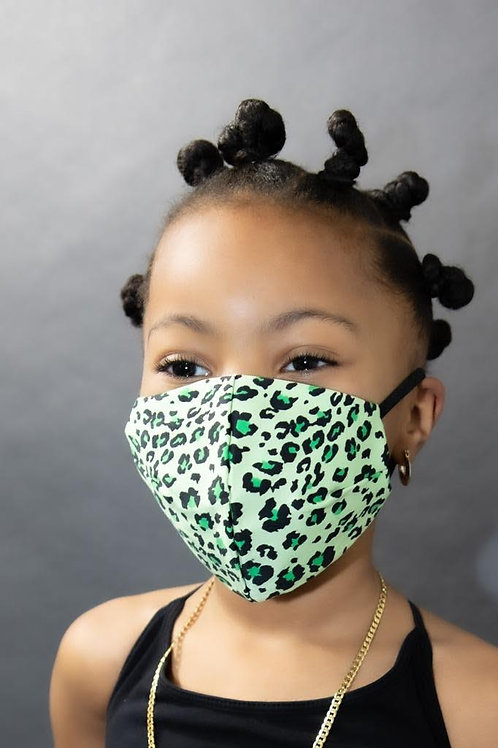 Fashion Print Face Mask -Leopard Print