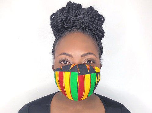 Kente Print Face Mask