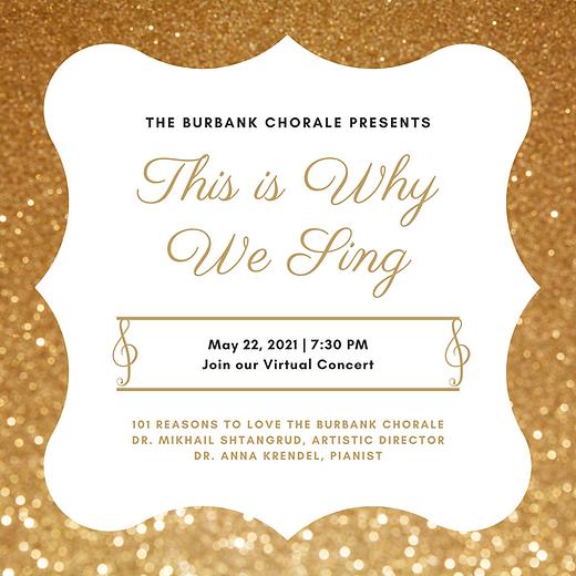 The Burbank Chorale Spring 2021 Artwork