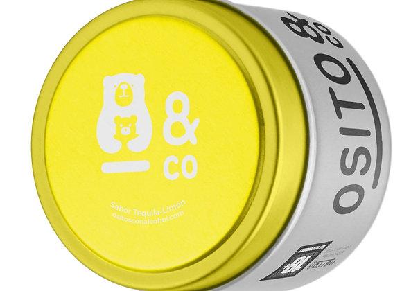 Ositos con alcohol. Lata Tequila-Limón 70g.