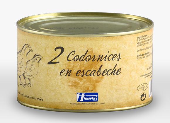 2 CODORNICES EN ESCABECHE