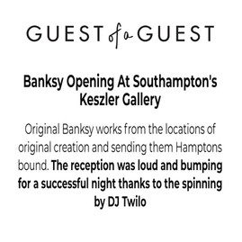 GUEST OF A GUEST DJ TWILO BANKSY