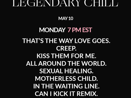 Legendary Chill  DJ SET X   Alt. R&B. Eclectic.
