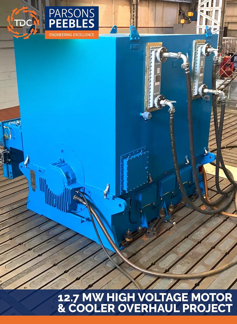 12.7 MW High Voltage Motor & Cooler