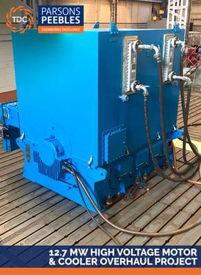 12.7 MW HIGH VOLTAGE MOTOR & COOLER OVERHAUL PROJECT
