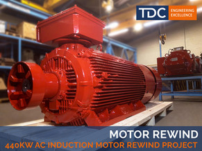 440kW AC Induction Motor Rewind Project