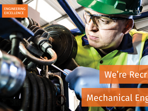 NEW VACANCY - Mechanical Engineer (Position filled March 2018)