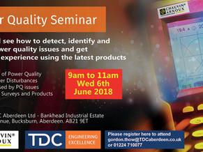 TDC/Chauvin Arnoux - Power Quality Seminar