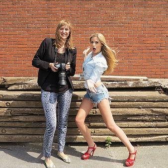 Boudoir fotografe Catherine De Maesschalck met model in Aalst