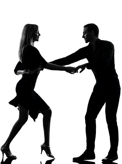 one caucasian couple woman man dancing d