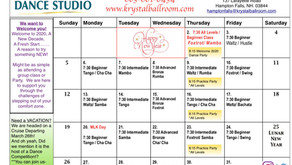 January 2020 Group Class Schedule