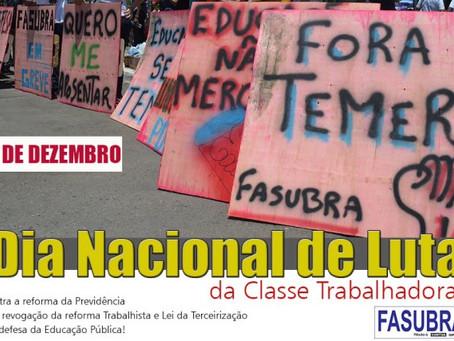 Comando de Greve da FASUBRA repudia desmonte da Greve Geral e mantém mobilização dia 5/12
