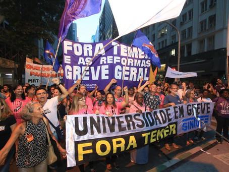 No dia 10, atos em todo país enfrentaram ataques de Temer