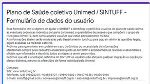 Melhorias no formulário para usuários do convênio com a Unimed